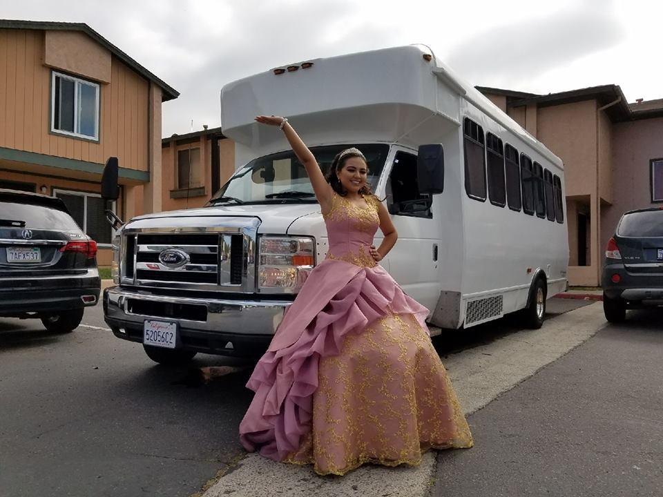 Quinceanera Party Bus From Carlsbad