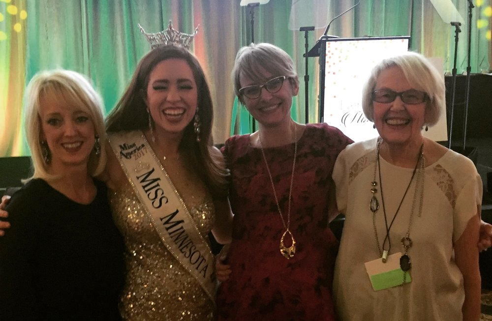 November 2017: With Miss Minnesota, Brianna Drevlow, an advocate for awareness of pediatric autoimmune disease (including Juvenile Arthritis), and our mothers at the 2017 Arthritis Foundation Conference of Champions. Brianna also graced us with her incredible talent at the piano. Pianists, pianists, everywhere!