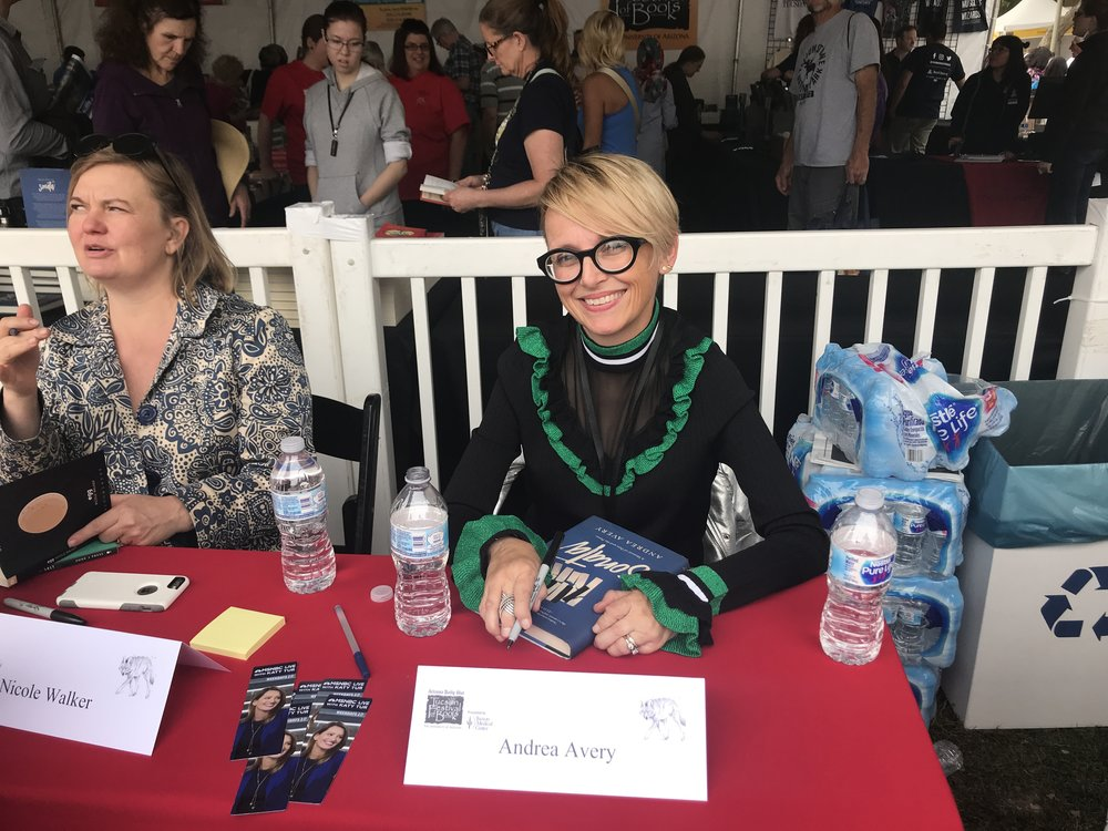 March 2018: Signing copies of  Sonata  at the U of A bookstore tent at the 2018 Tucson Festival of Books, the third-largest book festival in the country!