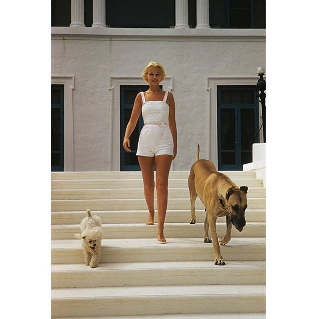 We named the print for our Erika jumpsuit 'Palm Beach' because it evokes the effortless, timeless grace you see in style icons such as C.Z Guest. Shown here in an enviable jumpsuit/romper at Villa Artemis in Palm Beach. Photo by Slim Aarons. #fashionicon #everydayessentials #classicswithatwist  #timeless #tops #dresses #allcotton #madeinindia #consciousclothing #womensfashion #womeninbusiness Follow the Story @furoclothing