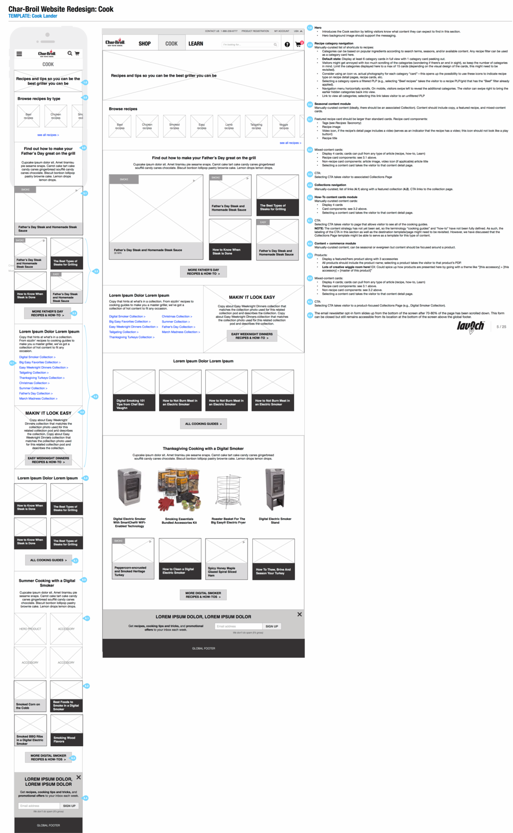 Cook section landing page
