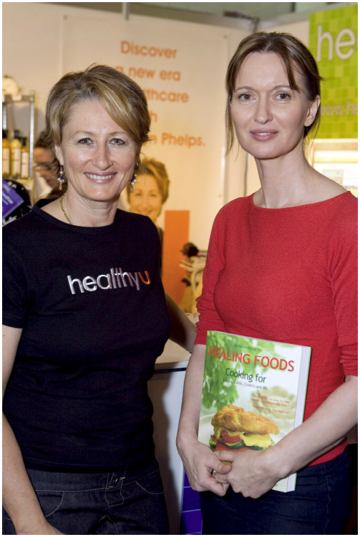 Professor Kerryn Phelps, Australian Medical Health expert and myself at the 2007 Healing Foods book launch in Australia.