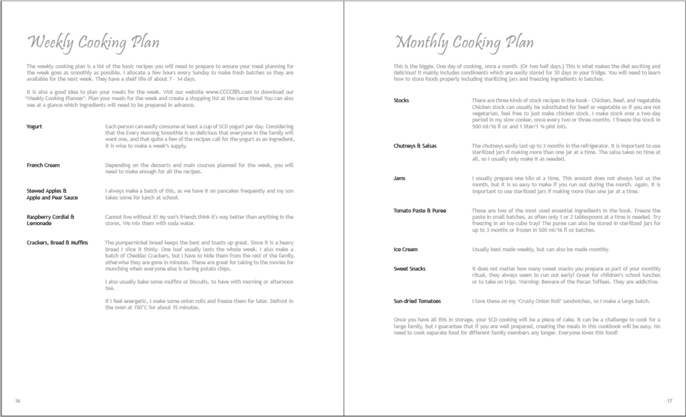 Cooking Plans