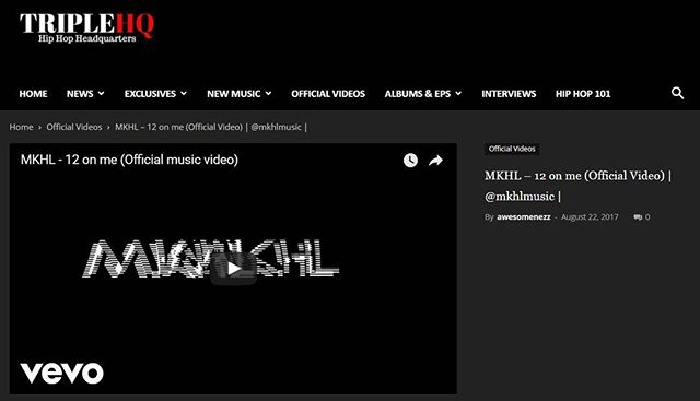 SME artist @mkhlmusic Recently featured on @triplehq with the #video for 12 on me  Join the new wave in #hiphpp