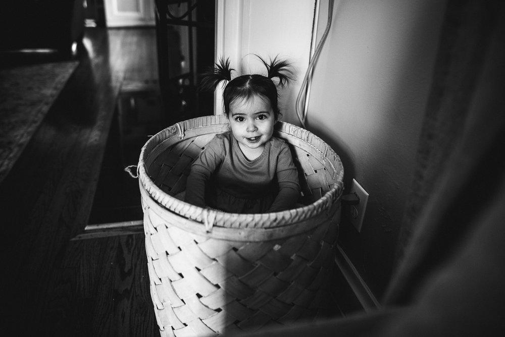 girl playing basket