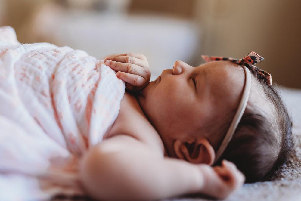 profile of newborn- St. Louis baby photographer