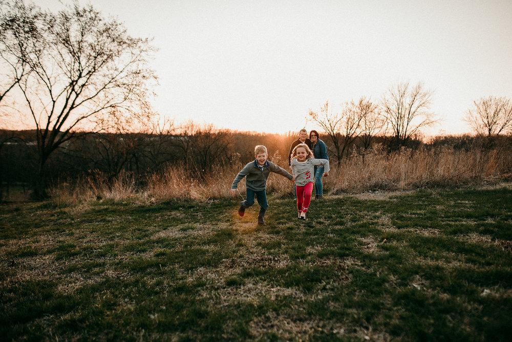 kids running in field