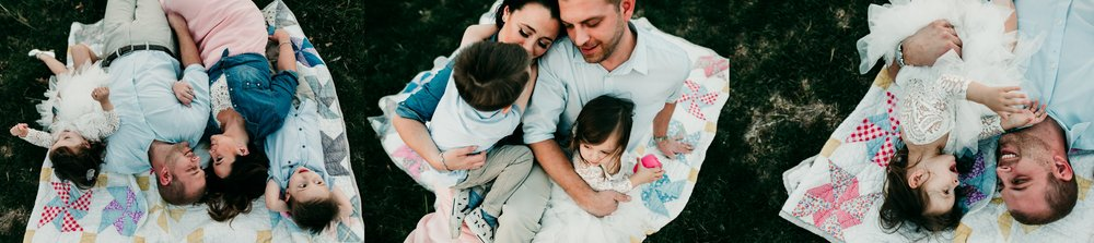 family cuddling St. Louis outdoor photographer