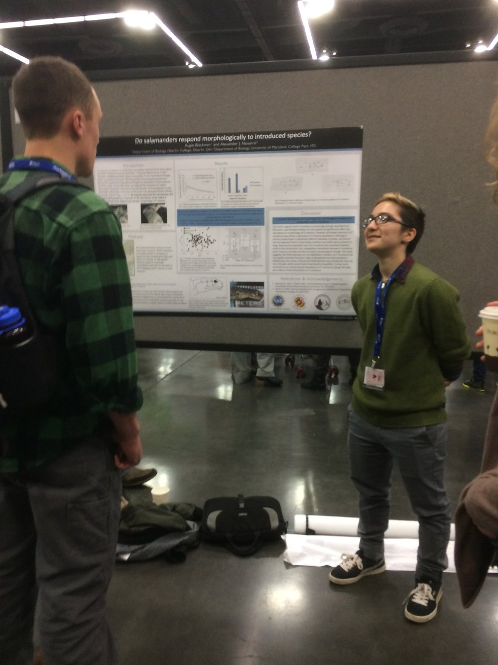 Augie presenting research at SICB