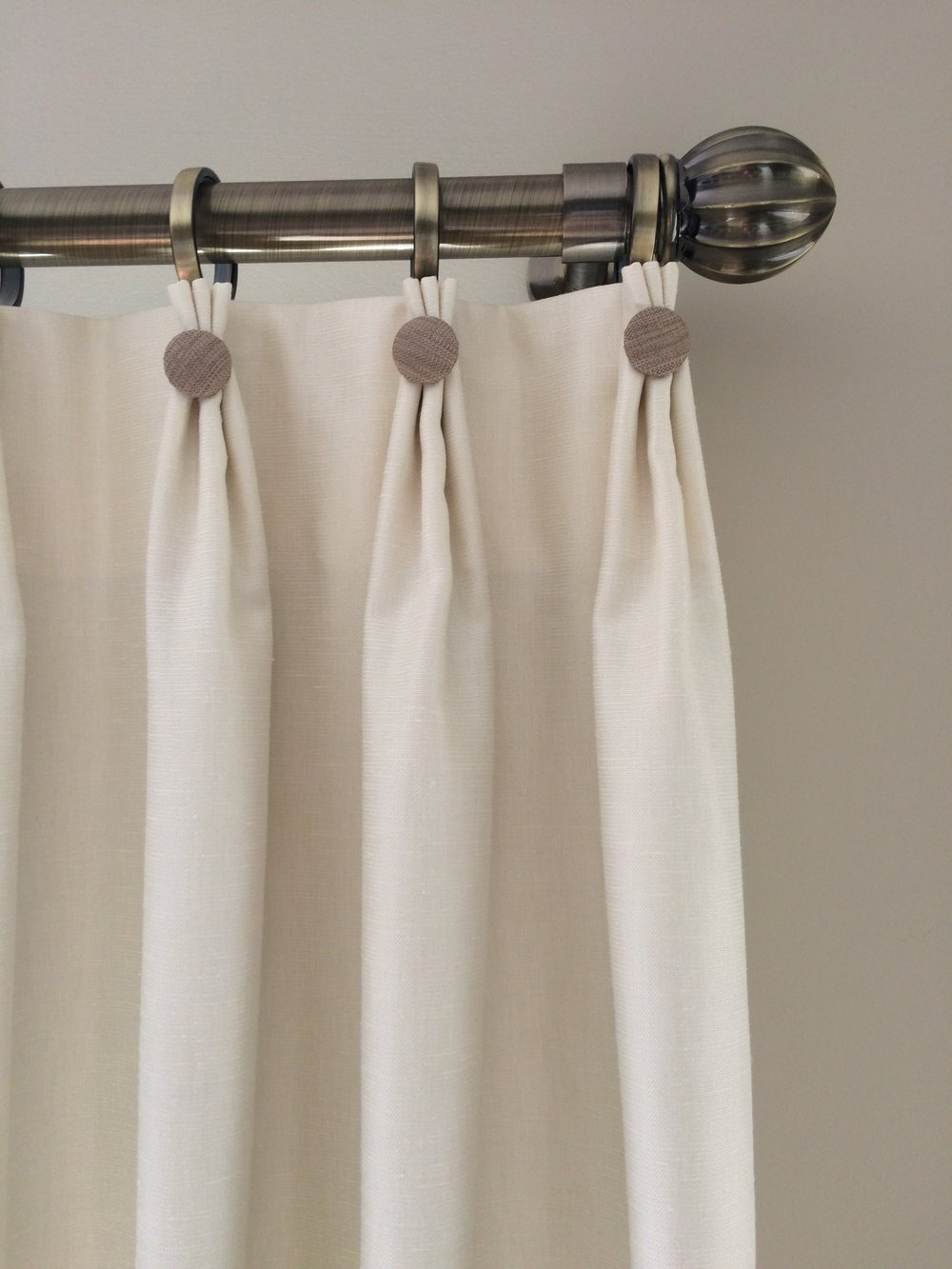 decorative top pinch pleat drapes
