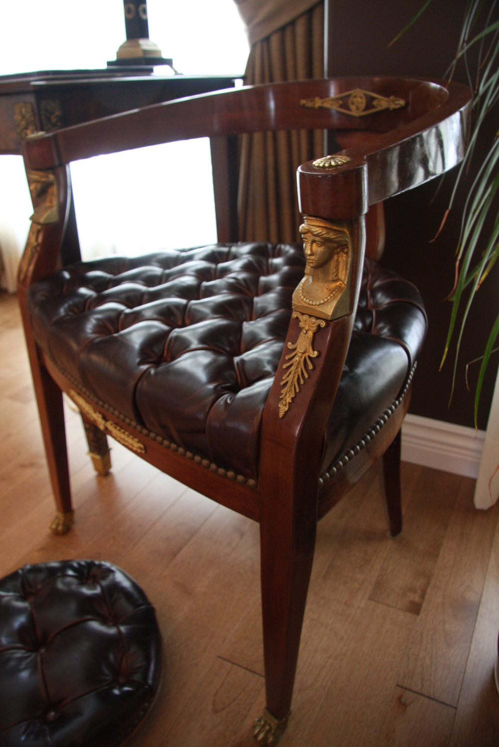 leather chair upholstery after .JPG
