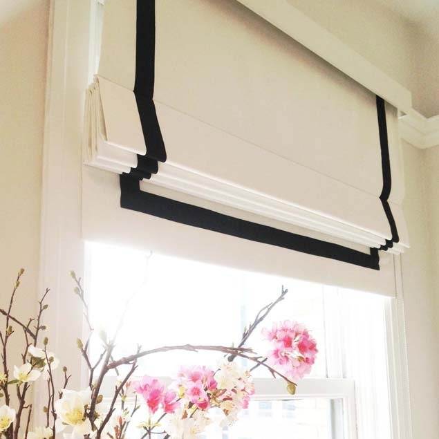 Studio Roman Shades with Banding