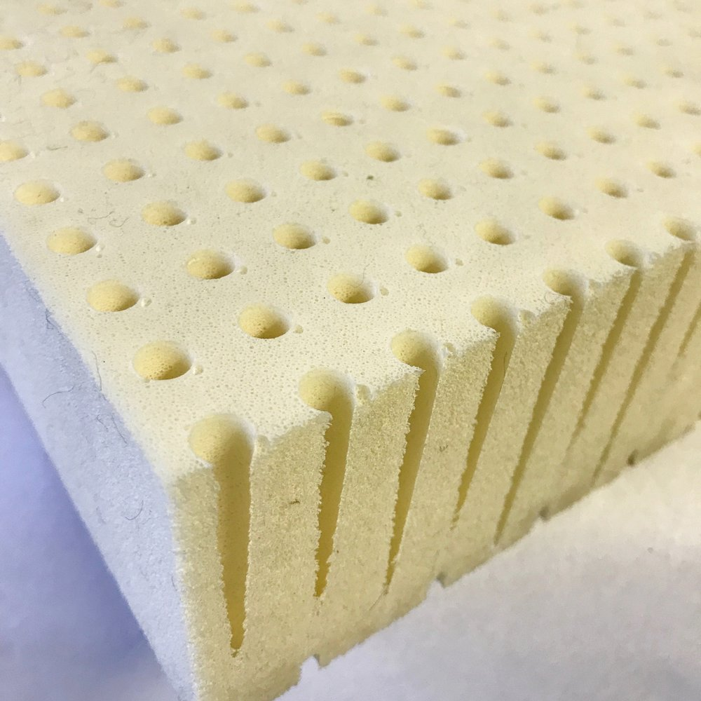 Medium density latex foam ready to be used in upholstery here in the shop!