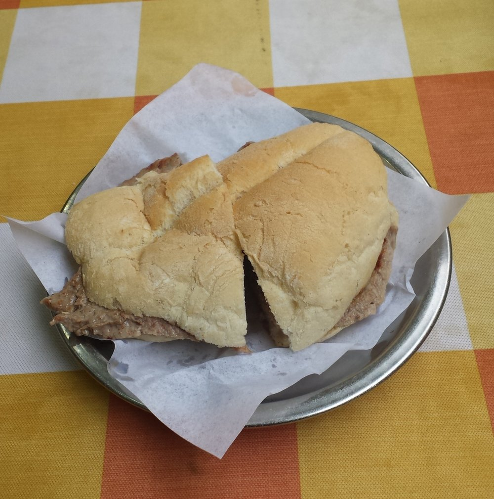 Beef Sandwich at the O Trevo.