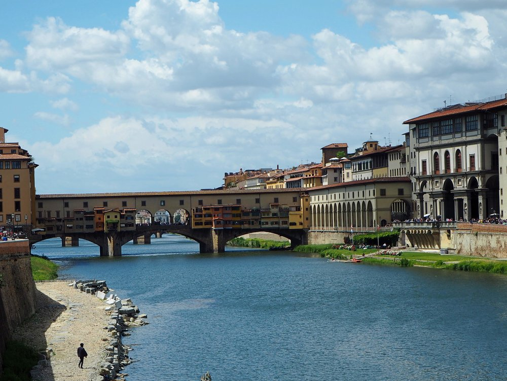 The Arno in Florence,  Ponte Vecchio