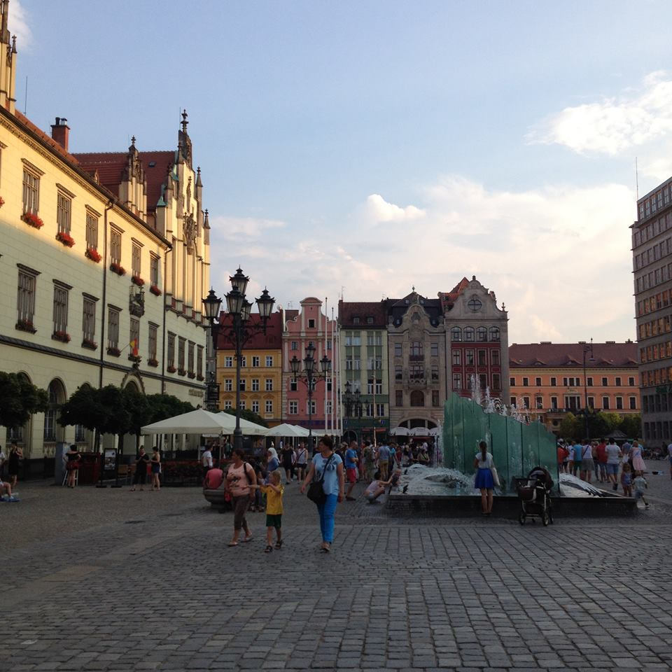 Wroclaw, Poland. By the time I made it to this city I had treated the infection, but was still walking with a limp.