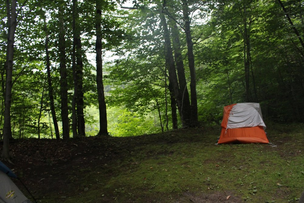 Campsite at Underhill State Park