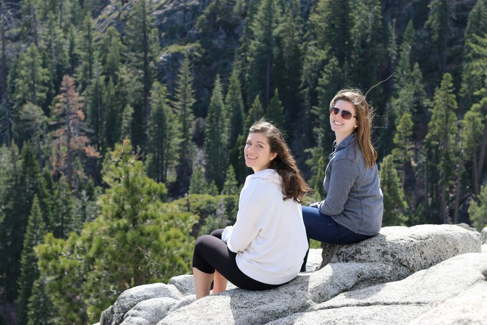 my best friend Kelly and I in Lake Tahoe