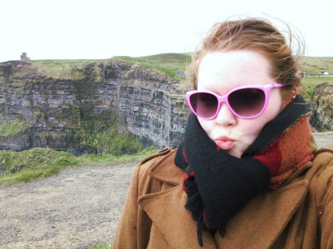 Two awesome selfies of me at The Cliffs of Moher in Ireland...