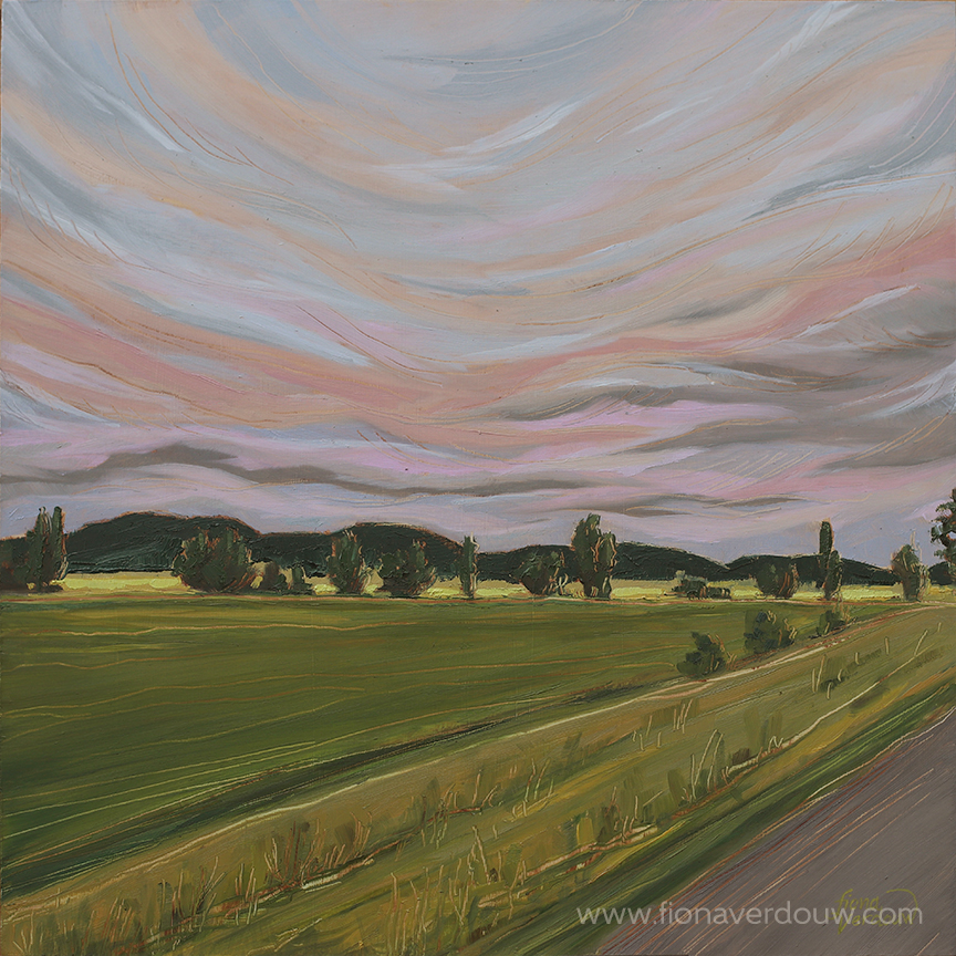 'BUSH-FIRE SKY' - 12 x 12"