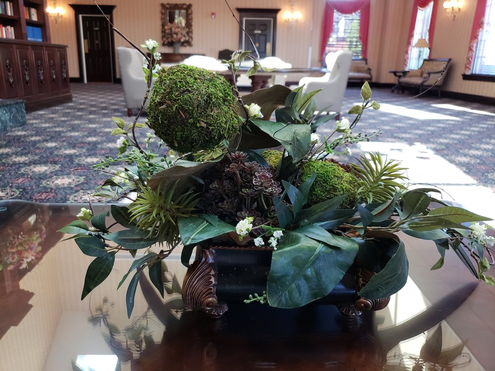Exotic centerpiece in hotel lobby