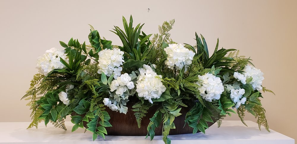 Fern arrangement for mantel