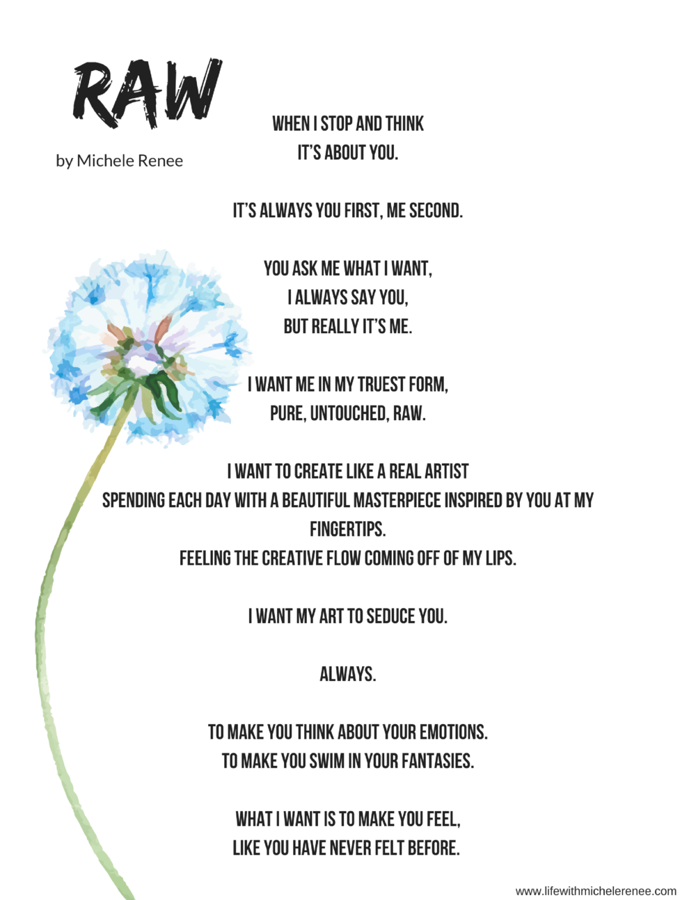 Life With Michele Renee - Raw Poem by Michele Renee