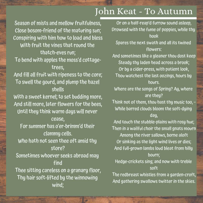 John Keate - To Autumn