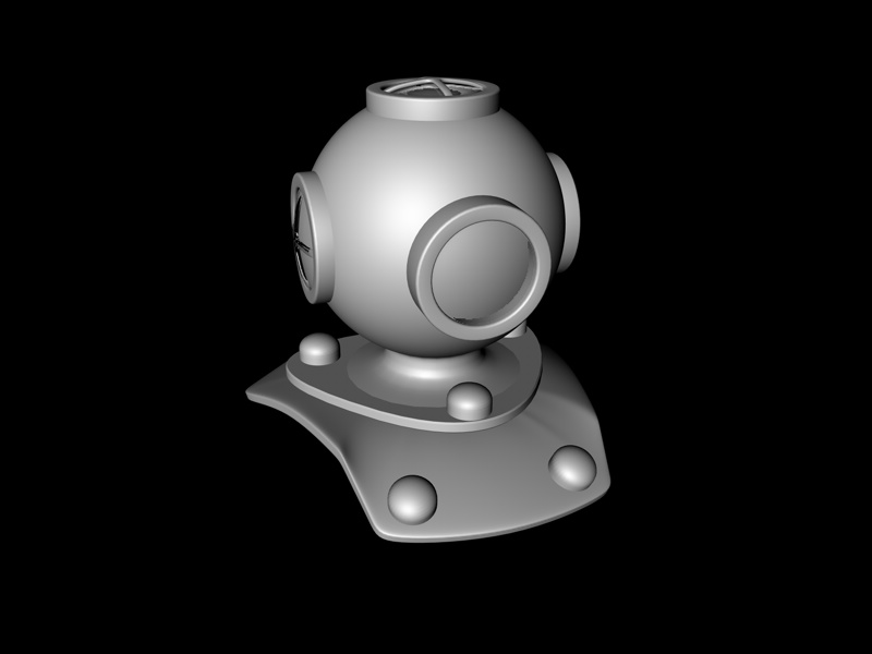 Progress Photo of my Diving Helmet Model