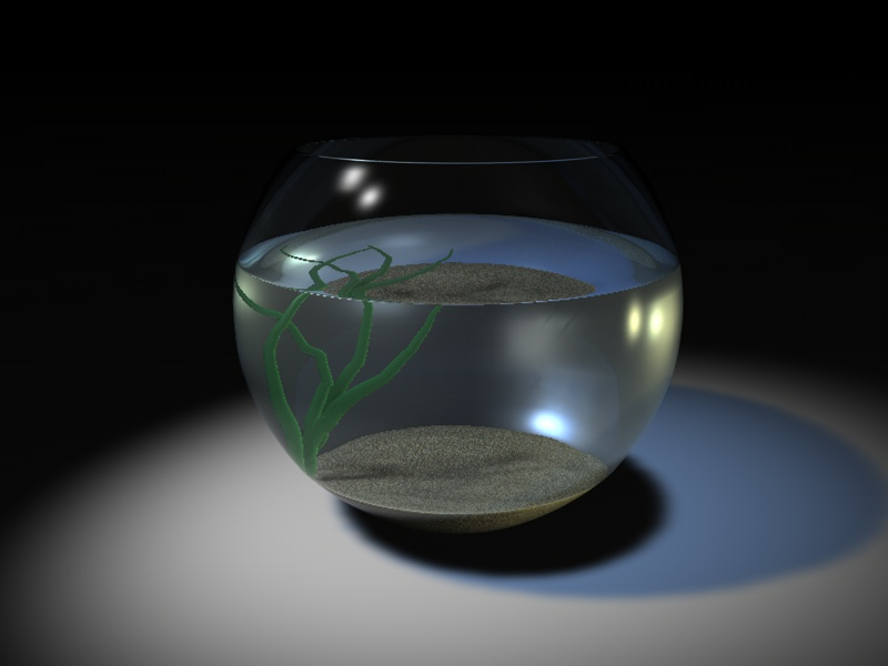 Progress Photo of my Fish Bowl Model