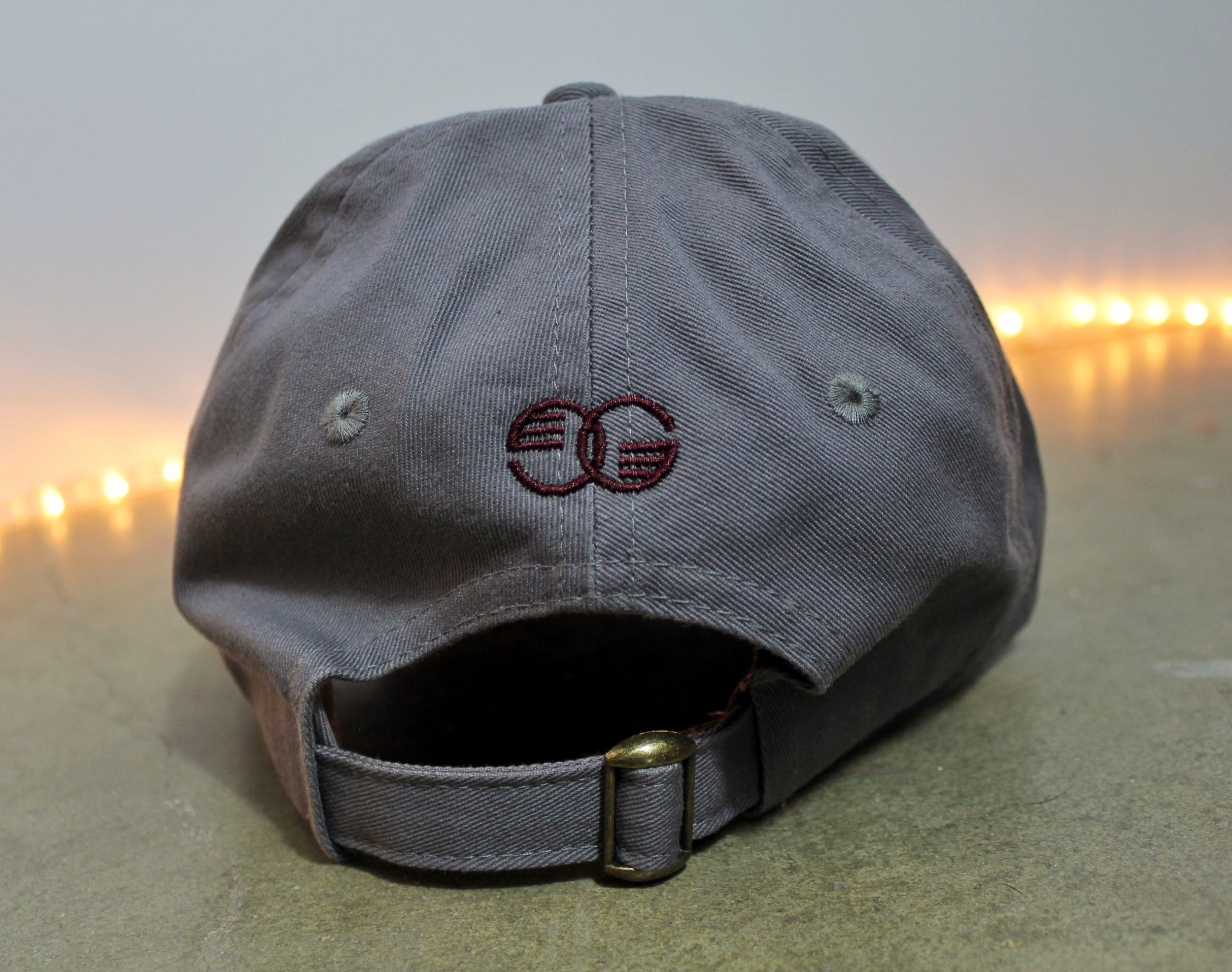 2c2cfec7034 Gray   Maroon Embroidered GROOVE Dad Hat — Guy Groove