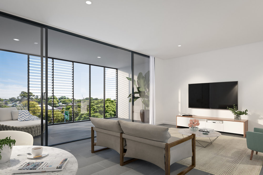 Website | File | Terence Yong Architecture | Onyx Apartments, Northmead | Flexible Living-Dining-Kitchen areas opening to a generous, North-facing wintergarden.jpg
