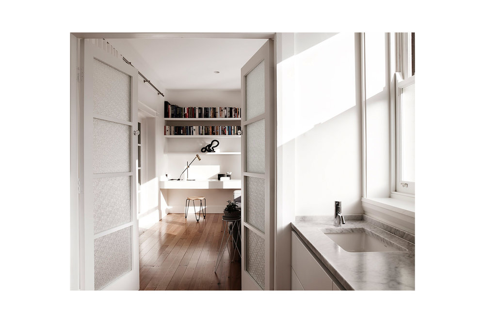 Website | File | Terence Yong Architecture | Coogee House : 2 in 1 | Alteration | A combined Main Bed-Study-Ensuite room that redefines a typical bedroom design | Looking to the South (Study room) from the Ensuite room.jpg