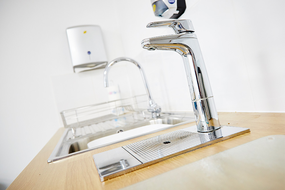 A  Billi  instant boiling tap which we used in our refurbishment of CMS Cepcor