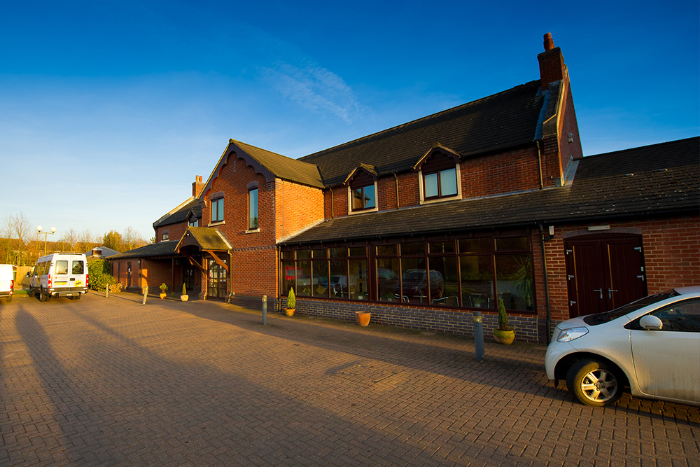 The Rainbows Children's Hospice + Offices in Loughborough located next to the Hospice.
