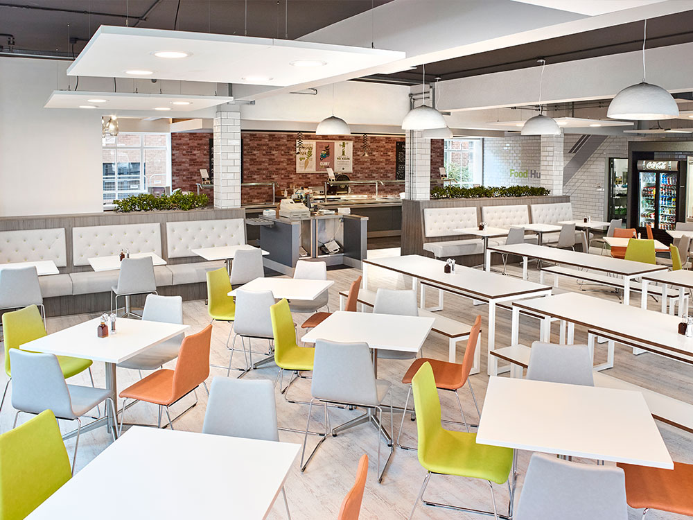 Lighting panels used at our work at MIRA to create a bright open space.