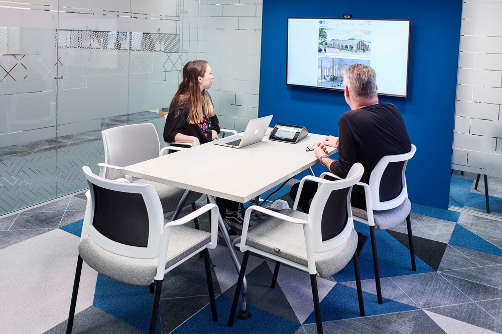 An example from our project at  rg+p , utilising technology to assist in agile working practices.