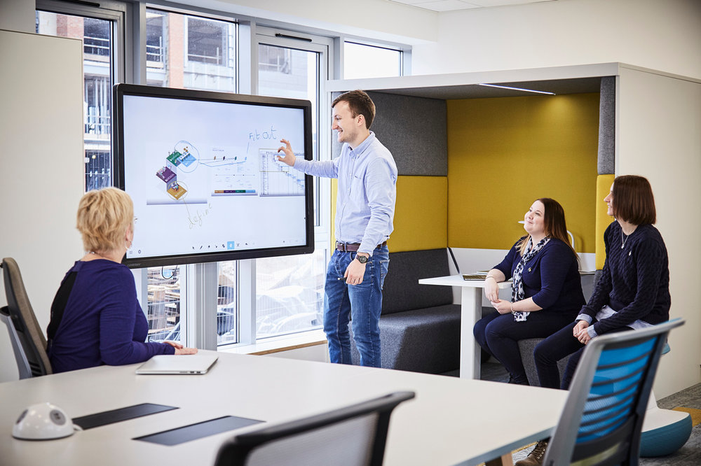 CleverTouch screens, just one of the examples of workplace technology at WorkLife Central.