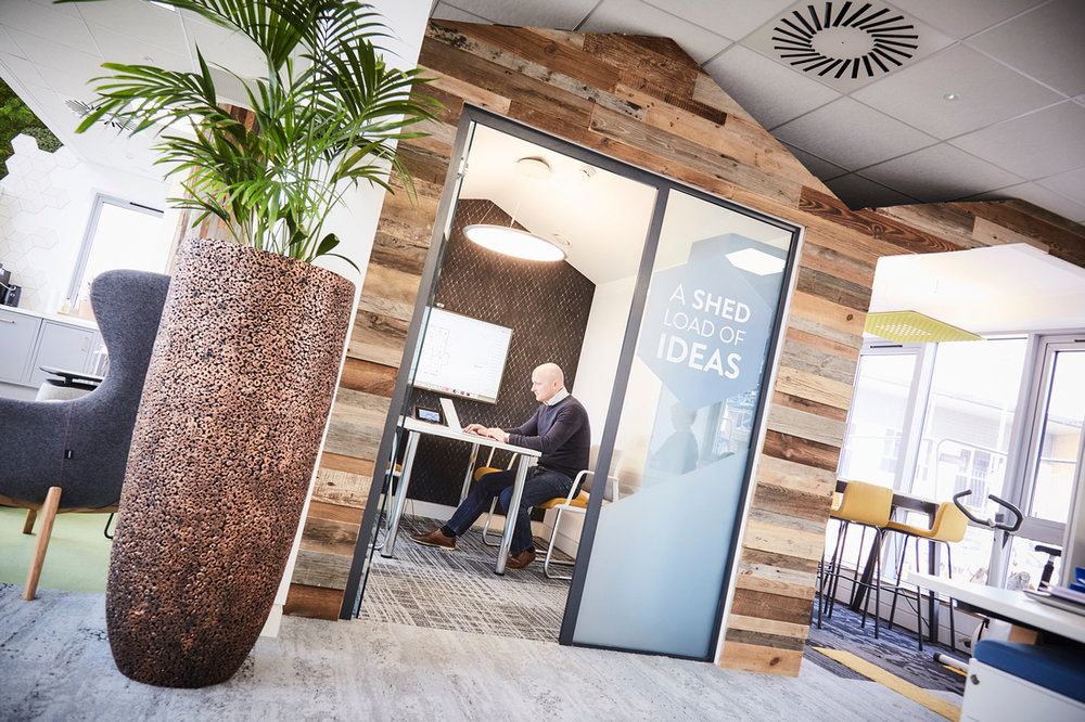 Small meeting room at WorkLife Central, tech-enabled and acoustically optimised.