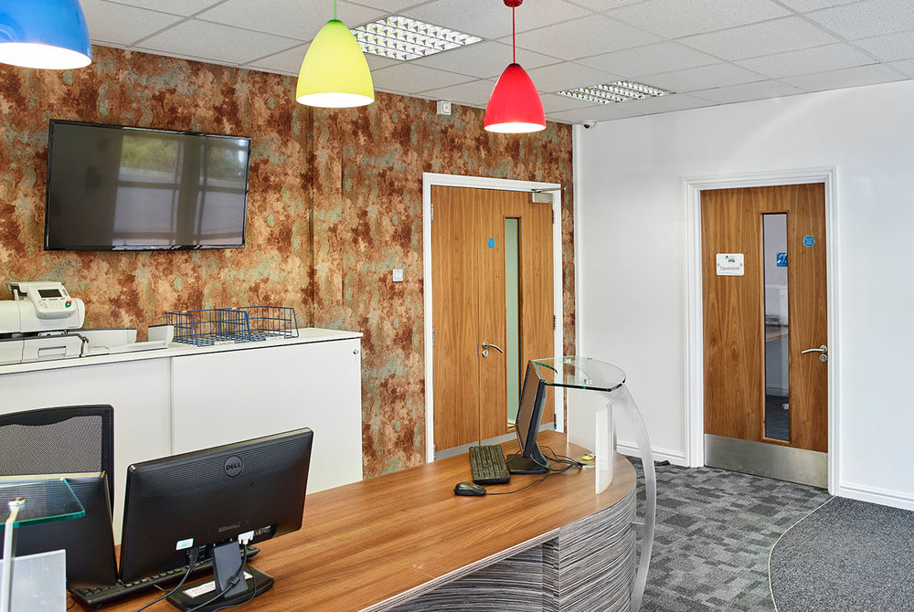 reception areas and work cafes -