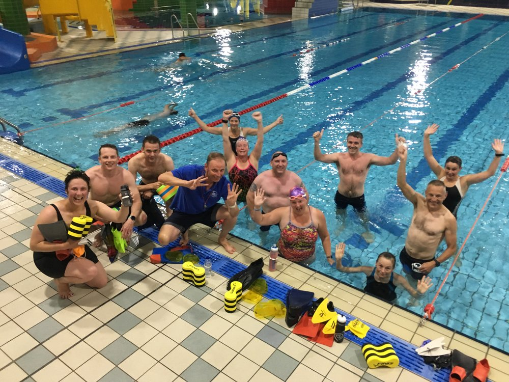 Tuesday evening squad celebrate a great set and England winning a World Cup penalty shoot-out!