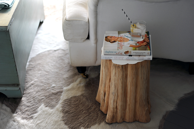 DIY: Natural Tree Stump Side Table