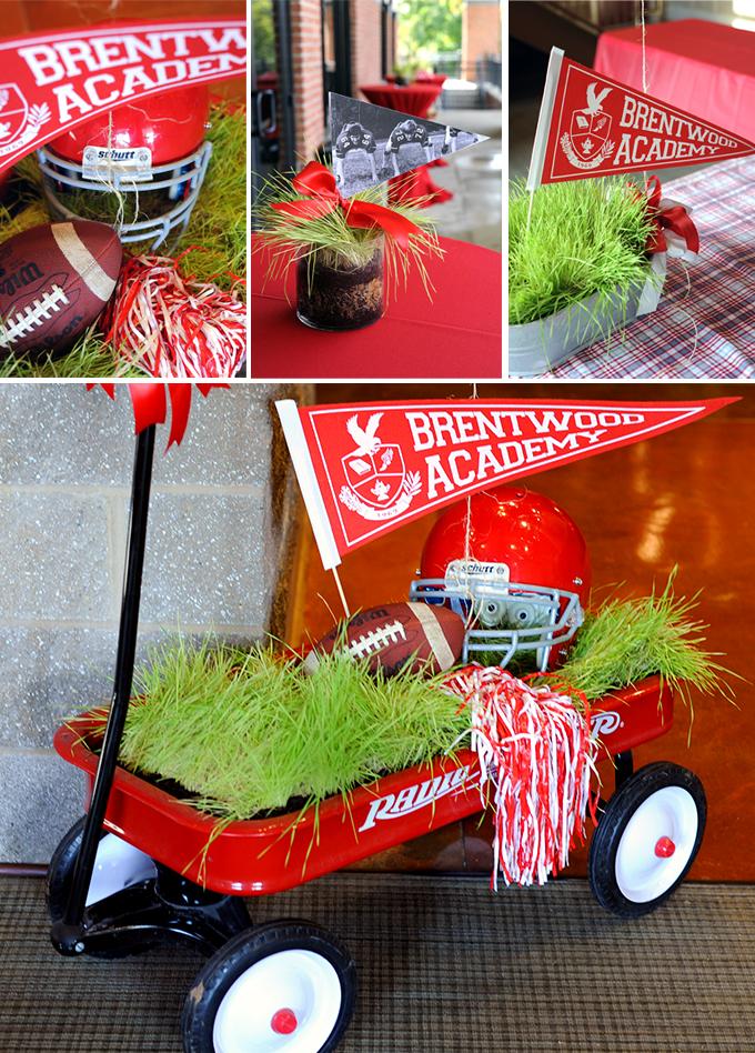 Highschool football decorations
