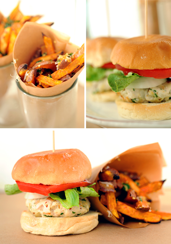 Turkey Sliders and Fries