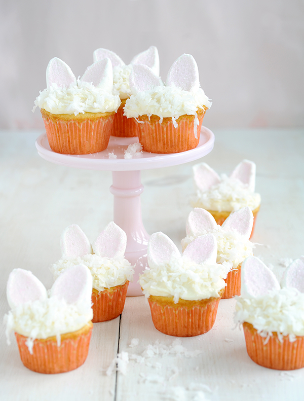 Easter Bunny Coconut Cupcakes | Easter Desserts Recipes to Make this Year