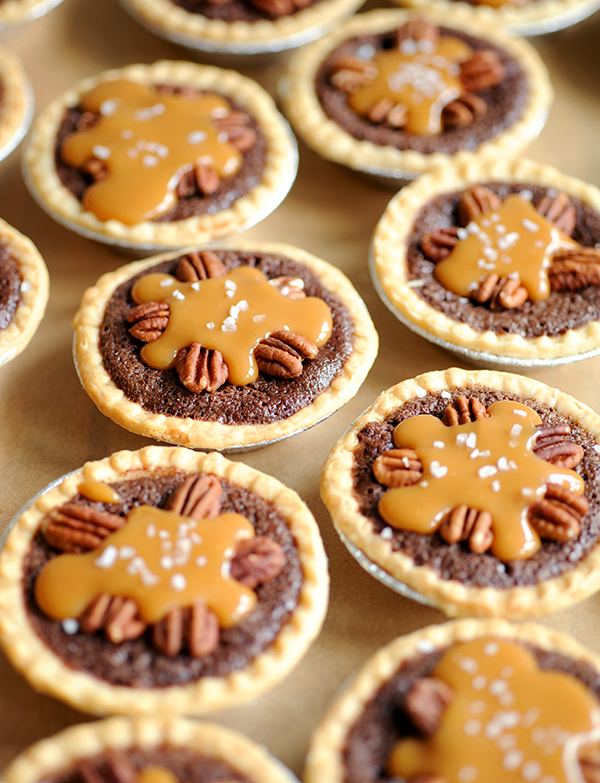Mini Salted Caramel Fudge Pies-7944