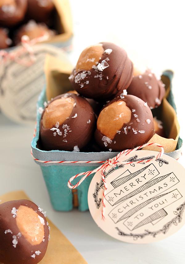 84ac8eedbe Homemade Holiday Food Gifts  Peanut Butter Nutella Buckeyes
