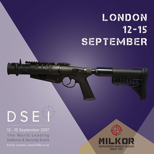 Visit #Milkor stand N3-110 at #dsei2017 in London. #dsei #dsei_event #grenadelaunchers #armouredvehicles