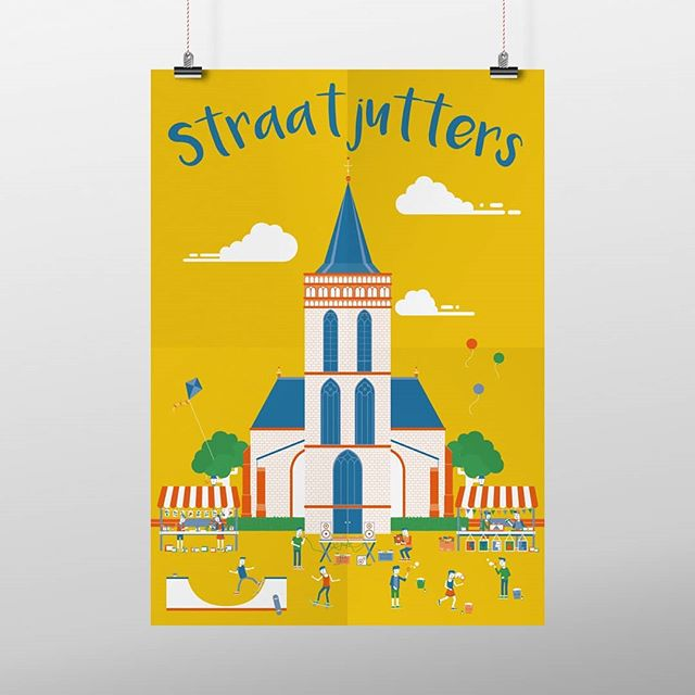 """Got the chance to create a poster for Astrant, for it's yearly """"Straatjutters Festival"""". A festival where kids can play, learn and create all day long!"""