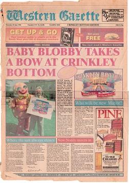 Crinkley Bottom opens, July 1994.